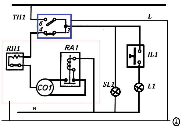 тепловое реле компрессора,